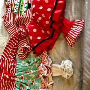 2 toddler Christmas/holiday outfits